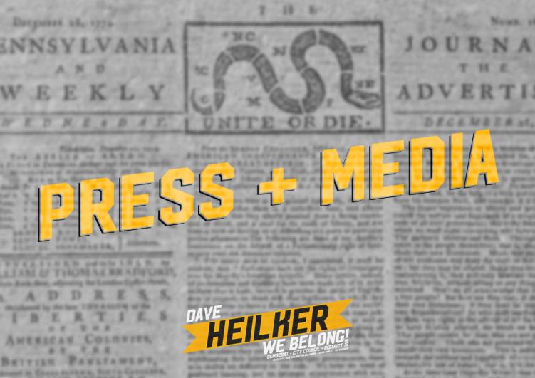 "Newspaper with ""Press & Media"" overlaid"